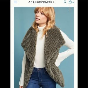 Anthropologie Stella Faux Fur Vest
